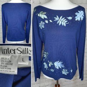 Winter Silks sweater size L
